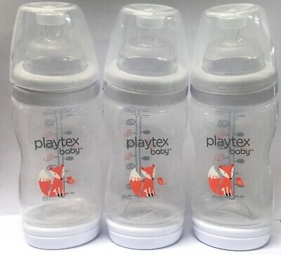 Playtex Baby Ventaire Anti-Colic Anti-Reflux Bottle - Fox Decorated, 3 Count 9oz