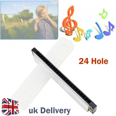 Professional 24 Hole Harmonica Key of C Mouth Metal Organ for beginners Box Gift