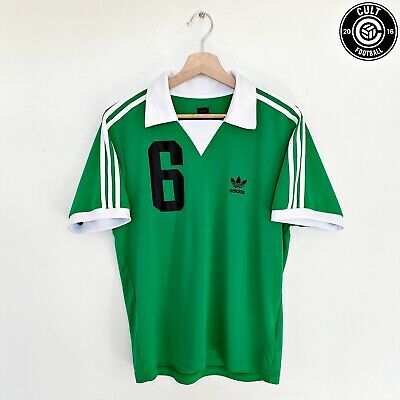 BECKENBAUER Adidas Originals Vintage Retro Football Shirt West Germany (M)