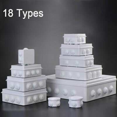 IP55 18 Sizes Plastic Waterproof Enclosure Case Power Junction Round Box NEW