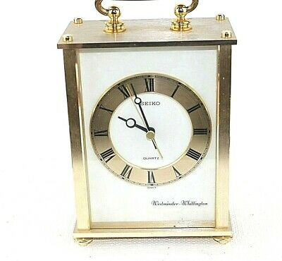 Lovely Seiko clock Westminster Whittington chimes Battery operated Working 33