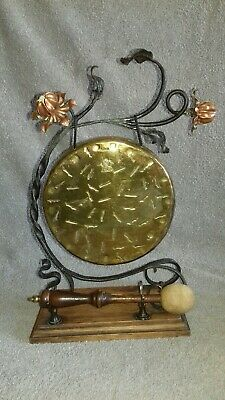 Antique Arts and Crafts Victorian Edwardian UK Burmese Brass Table Dinner Gong