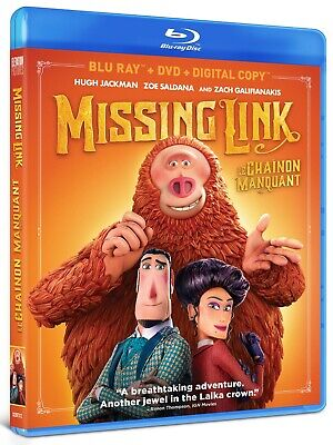 MISSING LINK (2019) [Blu-ray+DVD+Digital Copy] New !! (Free Shipping)