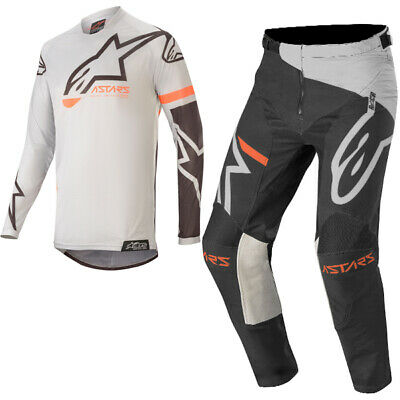 Alpinestars Racer Tech Compass Grey Black Kit Combo