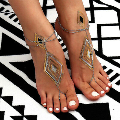 Simple Toe Ring` Ankle Bracelet Beach Barefoot Sandal Foot Chain Anklet Jewelry,