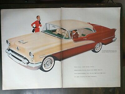 Ref. #60745 Picture 1955 Oldsmobile 98 Holiday Two Door Hardtop Factory Photo