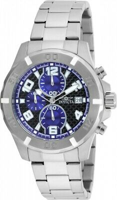 Invicta 17717 Specialty Men's Chronograph 45mm Stainless Steel Black Blue Dial