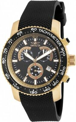 Invicta 17774 Specialty Men's Chronograph 45mm Gold-Tone Black Dial Watch