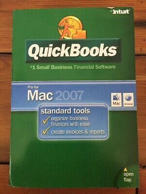 2007 Intuit QuickBooks Pro Financial Software Installation CD For Mac OS X v10.4