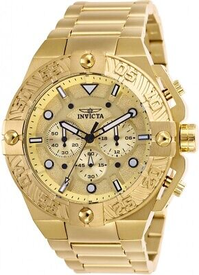 Invicta 25830 Pro Diver Men's Chronograph 50mm Gold-Tone Gold Dial Watch