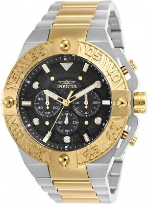 Invicta 25846 Pro Diver Men's Chronograph 50mm Two-Tone Black Dial Watch