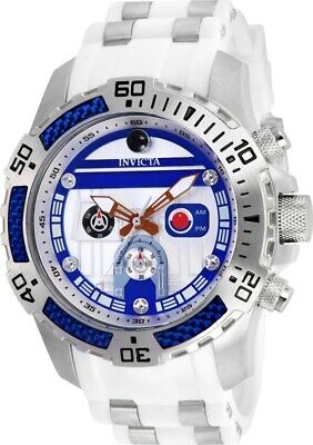 Invicta 26184 Star Wars Men's 51mm Chronograph Stainless Steel Silver Dial Watch
