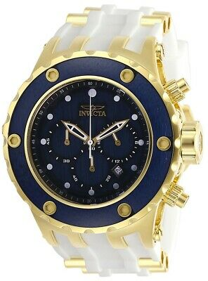 Invicta 27911 Specialty Men's Chronograph 52mm Gold-Tone Steel Blue Wood Dial