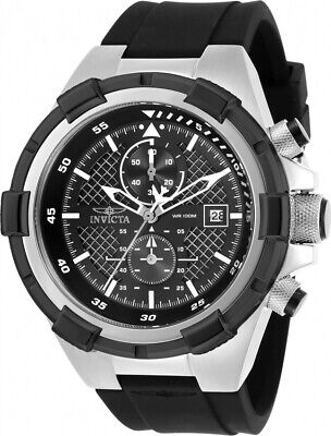 Invicta 28095 Aviator Men's Chronograph 50.5mm Stainless Steel Black Dial Watch