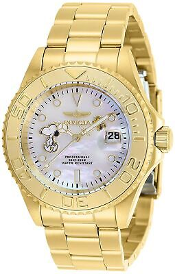 Invicta 28518 Character Collection Men's 40mm Gold-Tone Steel Gold White Dial