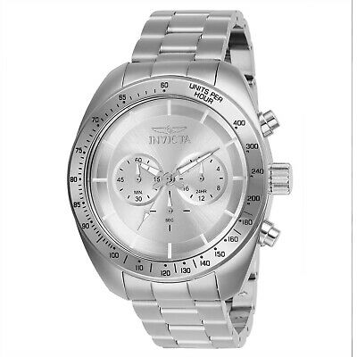 Invicta 28904 Speedway Men's Chronograph 48mm Stainless Steel Silver Dial Watch