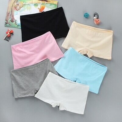 Kids Girls Underwear Pure Color Child Boxer Briefs Breathable Teenage Underpants