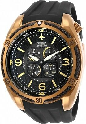 Invicta 28083 Aviator Men's Chronograph 50mm Stainless Steel Black Dial Watch