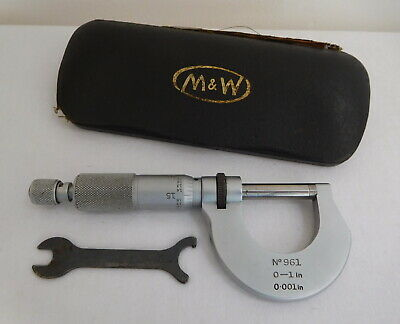 Vintage Moore & Wright Sheffield England Micrometer No 961 0.001 Inch Cased