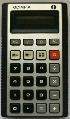 VINTAGE OLYMPIA WERKE AG CALCULATOR MODEL CD 46 With Case (Fully Working)