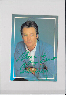 Alain delon autographe signed picture années 1980 - photo dédicace - actor