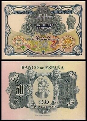 Facsímil Billete 50 pesetas de 1931 NE - Reproduction