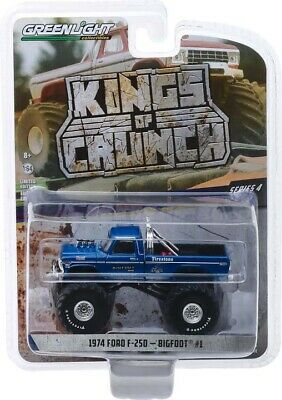 "Greenlight 1/64 Kings Of Crunch 4 BIGFOOT #1 1974 F250 Clean w/ 66"" Tires 49040A"
