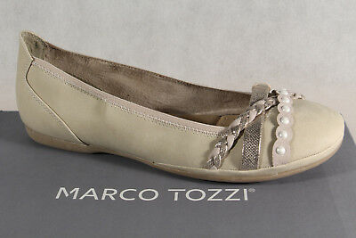 Marco tozzi Ballerinas Slipper Shoes Court Shoes Dune/Beige New