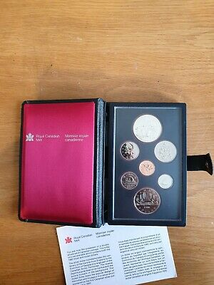 1980 Royal Canadian Mint Proof Set With Canadian Silver Dollar and Nickel Dollar