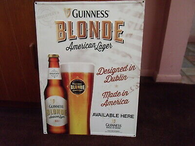 Guinness Blonde - American Lager  Metal Sign  23 X 17