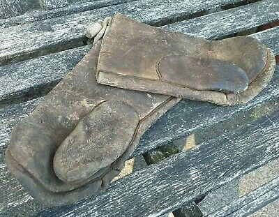 Vintage Pair of Thick Leather Hedging Gloves