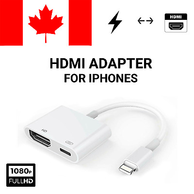 Lightning to HDMI Digital Adapter TV AV Cable For iPad Air iPhone 5 6 7 8 X R S