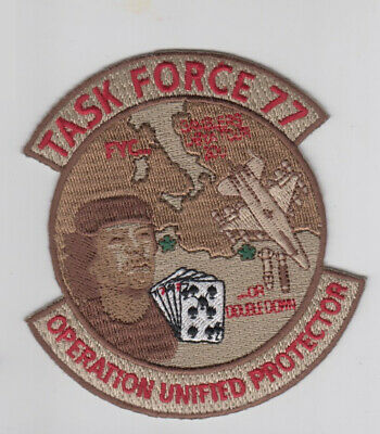 PATCH USAF F-16 77th FS TASK FORCE 77 OPERATION UNIFIED PROTECTOR   PARCHE