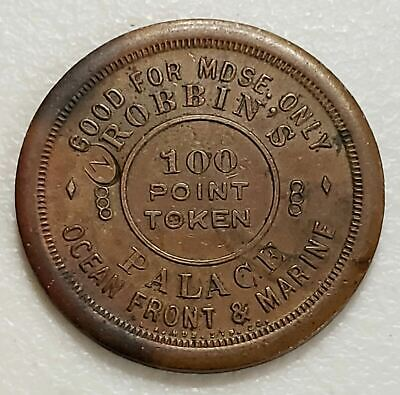 Robbins Palace Ocean Front Marine Rare Copper 100 Point Token Lot# JD1