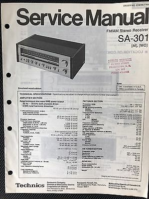 ORIGINAL TECHNICS SA-301 Fm/am Receiver Service Manual