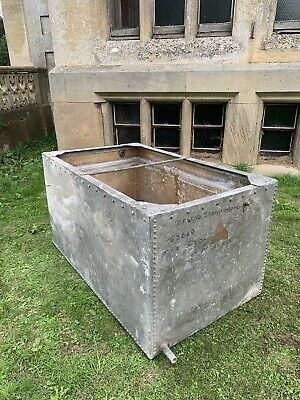 Huge 5 Ft Galvanized Water Tank/ Riveted / Architectural Salvage, Country House