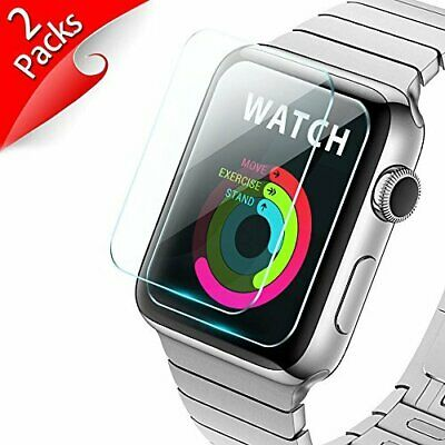 2 PACK For Apple Watch 38mm 40mm 42mm 44mm Tempered Glass Screen Protector Film