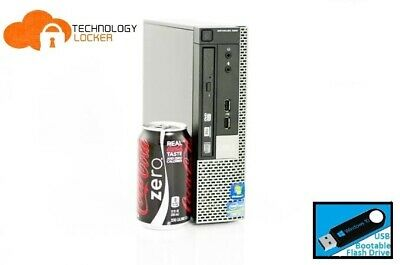 Dell Optiplex 990 USFF Desktop PC Intel i7-2600S @2.80GHz 8GB 128GB SSD Win 10 W