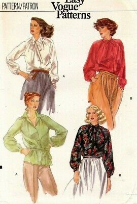 1970's VTG VOGUE Misses' Blouse Pattern 7158 Size 12 UNCUT
