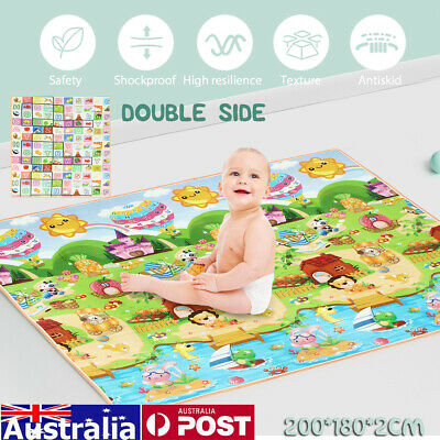 AU Baby Kid Floor Play Mat Rug Picnic Cushion Crawling Garden Mat Waterproof 2M