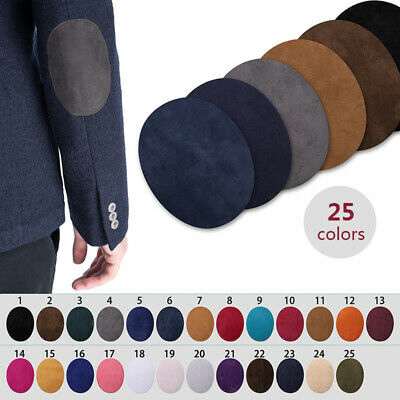 Oval Suede Patch Repair Iron on Elbow Knee Patches Clothing Accessories 2PCS