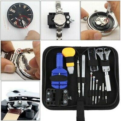 Battery Change Watch Repair Tool Band Pin Remover Back Case Opener 13 Pcs Tool