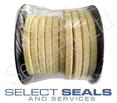"""Braided Kevlar Aramid Gland Packing 19.5mm 3/4"""" 8 Meters Style SS2633"""