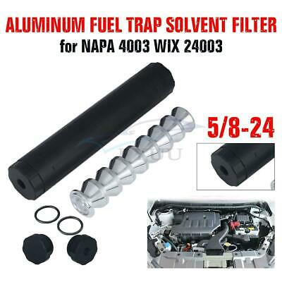 Black 5/8-24 Tube Car Fuel Filter With 1.375 D Cell Cups For NAPA 4003 WIX 24003