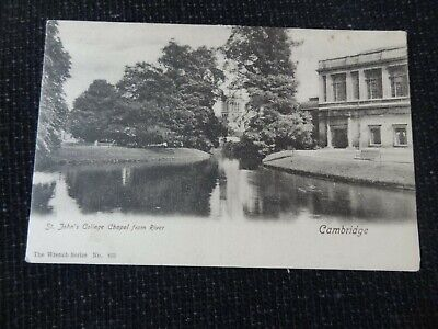 St Johns College Chapel from River Cambridge Postcard - 12662