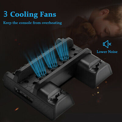 Multifunctional Charging Docking Station Cooling Stand for PS4 PS4 Slim, PS4 Pro