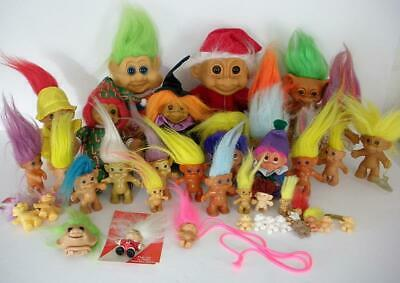 Big Lot Of Troll Dolls And Collectibles-Pins-Necklace-Figures-Gumball-Keychains