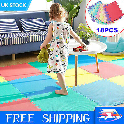 18pcs 30cm Baby Crawling Puzzle Mat Soft EVA Foam Kids Play Carpet Floor Blanket
