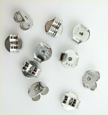 10 Butterfly Earring Backs 925 Stamped Sterling Silver Stud Earing Back Stoppers