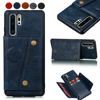 Leather Card Holder Pocket Stand Case Cover For Huawei P30 P20 Mate 20 Pro Lite